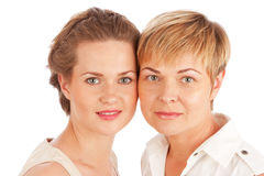 Close up portrait of mother and daughter Stock Photo