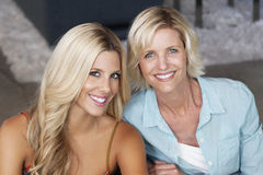 Close-up portrait of mother and daughter Stock Photos