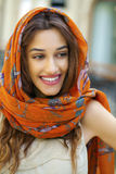 Close up portrait of a muslim young woman wearing a head scarf Stock Image