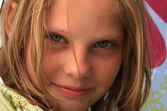 Close-up portrait of the nice young girl Royalty Free Stock Images