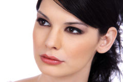 Close-up Portrait Of A Beautiful Brunette Royalty Free Stock Photos