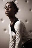 Close-up Portrait Of Beautiful African Woman Stock Photos
