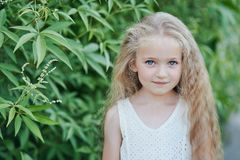 Free Close Up Portrait Of Beautiful Little Girl With Blonde Long Hair And Big Blue Eyes Royalty Free Stock Images - 165016239