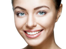 Close Up Portrait Of Beautiful Young Happy Smiling Woman. Royalty Free Stock Images