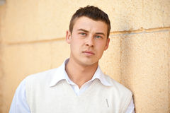 Close-up Portrait Of Handsome Young Man Royalty Free Stock Photography