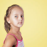 Close Up Portrait Of Young Beautiful Little Girl Royalty Free Stock Images