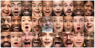 Free Close Up Portrait Of Young People Full Of Expression Royalty Free Stock Image - 155936576