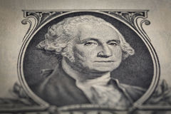 Close-up of Portrait one dollar bill Stock Photos