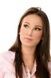 Close up portrait of a pensive business woman Stock Photo