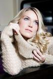 Pretty blond woman portrait Stock Photos