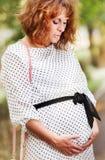 Close up portrait pregnant woman Stock Image