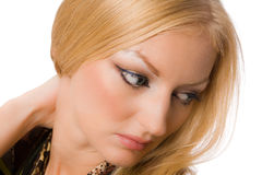 Close up portrait of pretty blonde Royalty Free Stock Images