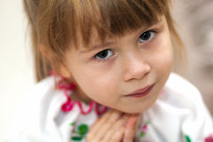 Close-up portrait of pretty little child girl Stock Image