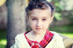 Close-up portrait of a pretty little girl Royalty Free Stock Photo
