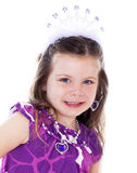 Close up portrait of pretty little girl dressed up Stock Images