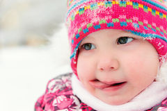 Close up portrait of pretty little girl Royalty Free Stock Photos