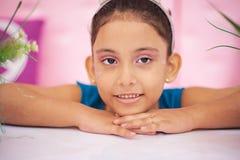 Close up portrait of princess girl Stock Photos