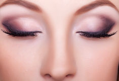 Close up portrait professional make up Royalty Free Stock Photography