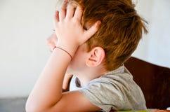 Close up portrait of sad  little boy Stock Image