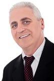 Close up portrait of senior business man Stock Photo