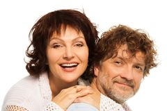 Close-up portrait of senior couple Royalty Free Stock Images