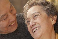 Close- up portrait of senior couple, Beijing Royalty Free Stock Images