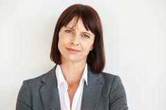Close up portrait of serious business woman Stock Image