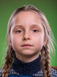 Close-up portrait of serious girl Royalty Free Stock Photos
