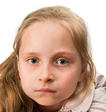 Close-up portrait of serious girl Royalty Free Stock Images