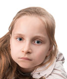 Close-up portrait of serious girl Royalty Free Stock Image