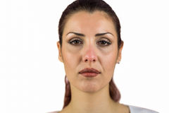 Close-up portrait of serious woman Royalty Free Stock Image