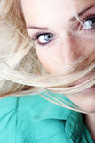 Close-up portrait of a sexy blond woman Stock Images