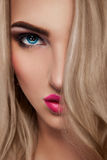 Close up portrait of sexy blonde woman Stock Image