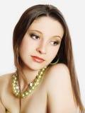 Close-up portrait of caucasian young woman Stock Photos