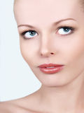 Close-up portrait of caucasian young woman Royalty Free Stock Images