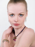 Close-up portrait of sexy caucasian young woman Royalty Free Stock Images