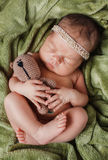 Close- up portrait of a sleeping baby Stock Photos