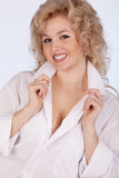 Close-up portrait smiling beautiful woman Royalty Free Stock Photography