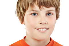 Close-up portrait of smiling boy Stock Image
