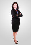 Close Up Portrait of smiling business woman in success Royalty Free Stock Photography