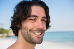 Close up portrait of smiling confident man Royalty Free Stock Images