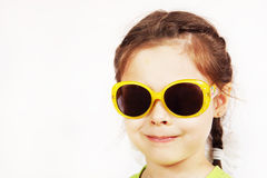Close up portrait of a smiling cute little girl Stock Photography