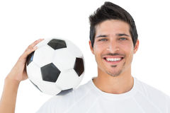 Close-up portrait of a smiling football fan Royalty Free Stock Images