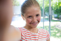 Close up portrait of smiling girl Stock Photography
