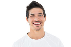 Close-up portrait of smiling handsome football fan Royalty Free Stock Photography