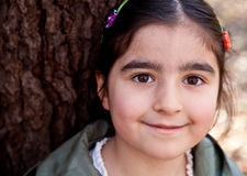 Close Up Portrait of a Smiling Happy Little Girl Royalty Free Stock Photos