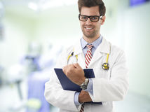 Close-up portrait of a smiling male doctor Royalty Free Stock Photography
