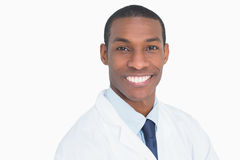 Close up portrait of a smiling male doctor Stock Photography