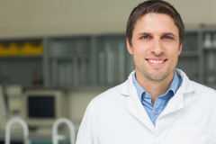 Close up portrait of a smiling male doctor Stock Images