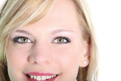 Close up portrait of smiling woman Royalty Free Stock Photo